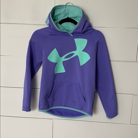 simpatía emoción Enmarañarse  Under Armour Jackets & Coats | Under Armour Girls Purple And Teal Hoodie |  Poshmark